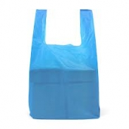 Blue Vest Carrier Bags Independence 11x17x21