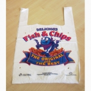 Fish & Chip Design Carrier Bag