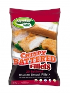 20x120g 2.4kg Battered Chicken Breast Fillets